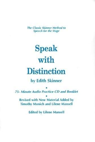 9781557837240: Speak with Distinction: 75-Minute Audio Practice CD and Booklet (Applause Acting)