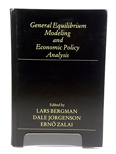 9781557860279: General Equilibrium Modeling and Economic Policy Analysis
