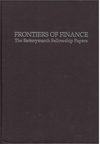 9781557860859: Frontiers of Finance: The Batterymarch Fellowship Papers