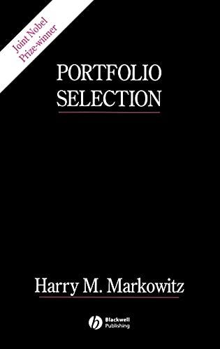 9781557861085: Portfolio Selection: Efficient Diversification of Investments