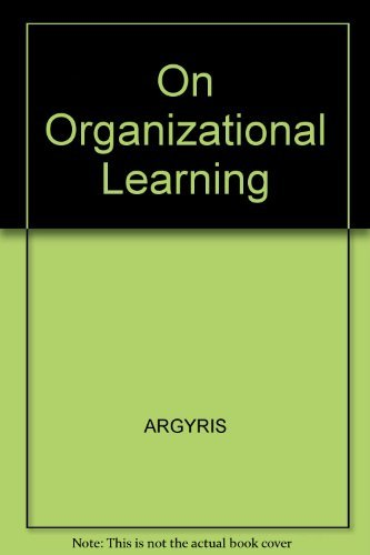 9781557862624: On Organizational Learning