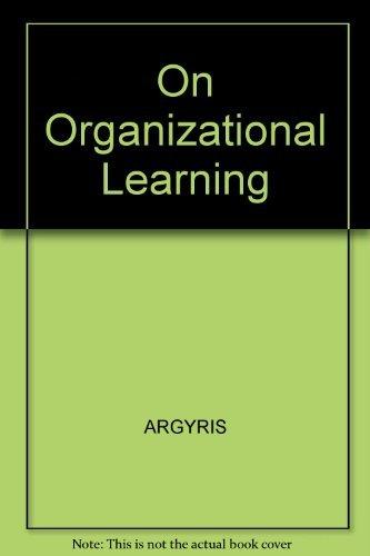 9781557862624: On Organizational Learning