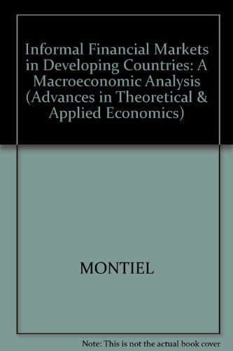 9781557863577: Informal Financial Markets in Developing Countries: A Macroeconomic Analysis (Advances in Theoretical and Applied Economics)