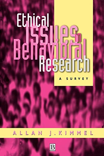 9781557863959: Ethical Issues in Behavioral Research: A Survey