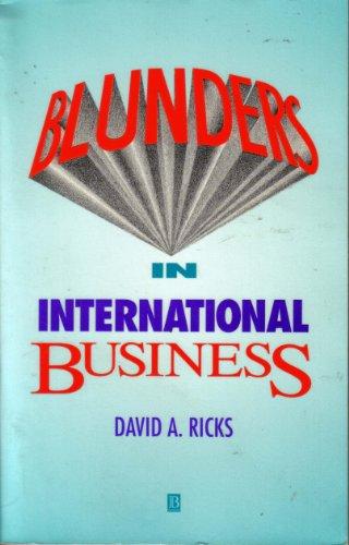 9781557864147: Blunders in International Business
