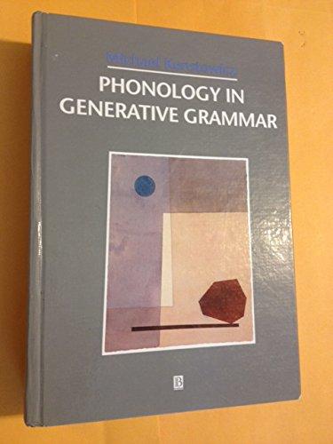 9781557864253: Phonology in Generative Grammar (Blackwell Textbooks in Linguistics Series)
