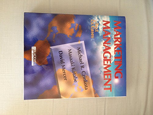 9781557866950: Marketing Management: Text and Cases