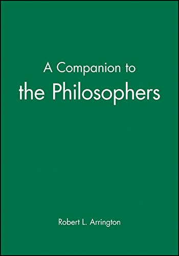 9781557868459: A Companion to the Philosophers (Blackwell Companions to Philosophy)