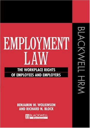 9781557869135: Employment Law: The Workplace Rights of Employees and Employers (Human Resource Action US)