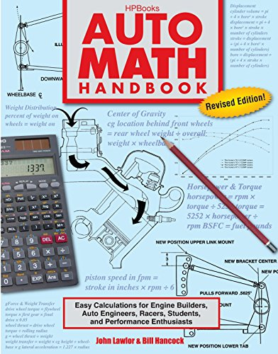 9781557885548: Auto Math Handbook: Easy Calculations for Engine Builders, Auto Engineers, Racers, Students and Performance Enthusiasts