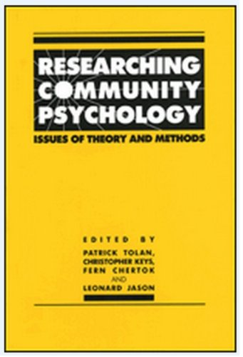 9781557980984: Researching Community Psychology: Issues of Theory and Methods