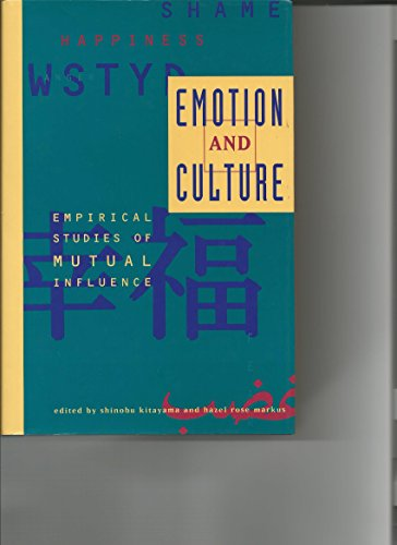 9781557982247: Emotion and Culture: Empirical Studies of Mutual Influences