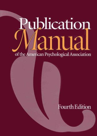 9781557982438: The Publication Manual of the American Psychological Association