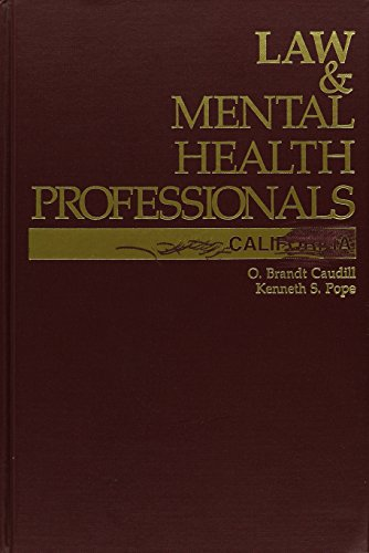 9781557982766: Law and Mental Health Professionals: California with Supplement (Law & Mental Health Professionals)