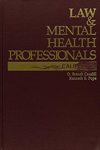 9781557982766: Law & Mental Health Professionals: California