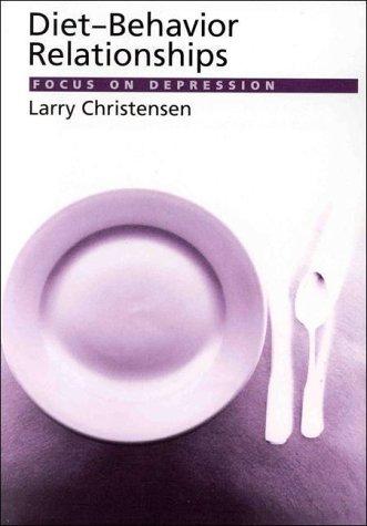 9781557983251: Diet-Behavior Relationships: Focus on Depression