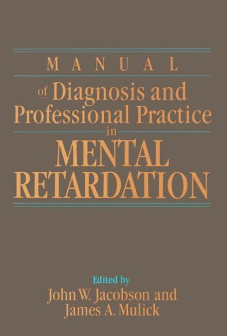 Manual of Diagnosis and Professional Practice in