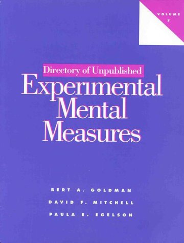 9781557984494: Directory of Unpublished Experimental Mental Measures Vol 7