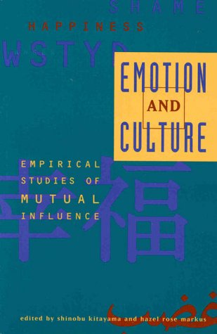 9781557984876: Emotion and Culture: Empirical Studies of Mutual Influences