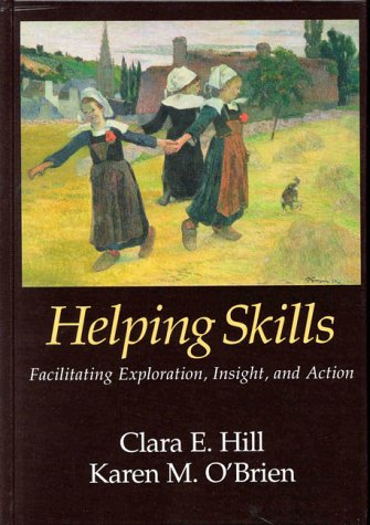 Helping Skills 9781557985729 This user-friendly textbook describes the challenging journey students must take to become effective helpers. The author presents a three-stage model of helping, grounded in 25 years of research, that can be used to assist individuals who are struggling with emotional or transitional difficulties. To master the skills they need to lead clients through the exploration, insight and action stages, students are given both theoretical guidance and ample opportunities for formulating solutions to hypothetical clinical problems. Grounded in client-centred, psychoanalytic and cognitive-behavioural theory, this engaging book offers an integrative approach that will fill the void left by textbooks that focus more narrowly on change processes. Numerous tables and lists supplement the text, along with clinical examples and helpful hints to provide students with vicarious real world experience.