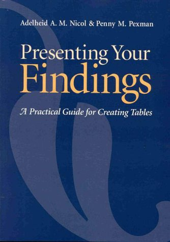 9781557985934: Presenting Your Findings: A Practical Guide for Creating Tables