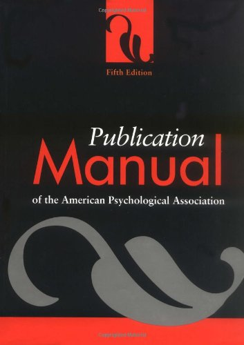 9781557987907: Publication Manual of the American Pyschological Association (Publication Manual of the American Psychological Association)