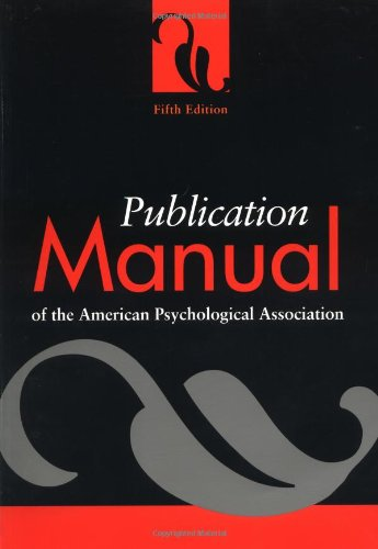 9781557987914: Publication Manual of the American Psychological Association