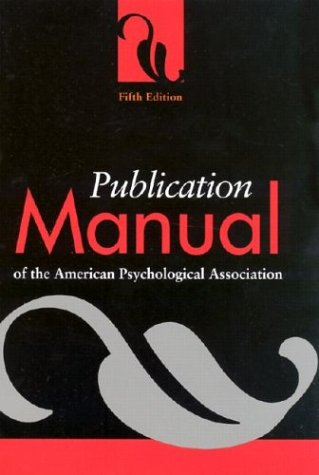 9781557988102: Publication Manual of the American Psychological Association (Fifth Edition)
