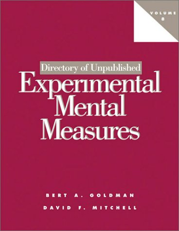 8: Directory of Unpublished Experimental Mental Measures