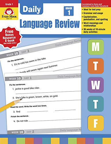 9781557996558: Daily Language Review, Grade 1