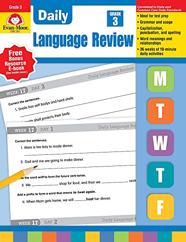 9781557996572: Daily Language Review, Grade 3