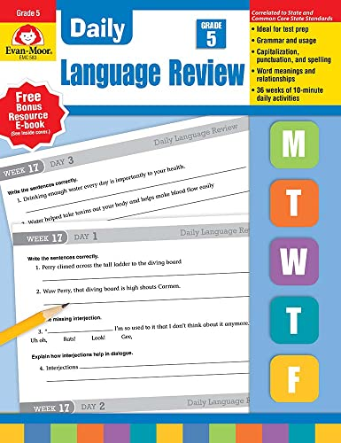 9781557996596: Daily Language Review, Grade 5 Common Core Edition