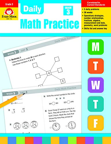 Daily Common Core Math Practice, Grade 3: Evan-Moor Educational Publishers
