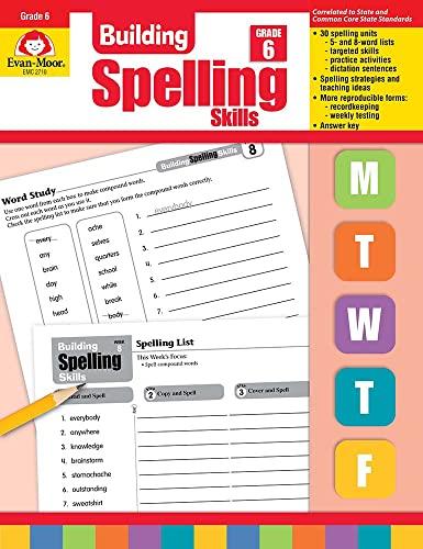 9781557998446: Building Spelling Skills, Grade 6