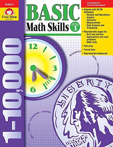 Basic Math Skills, Grade 3: Moor, Evan