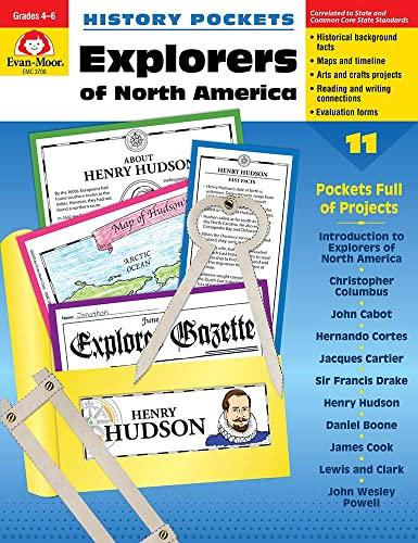 History Pockets: Explorers of North America, Grades: Evan Moor