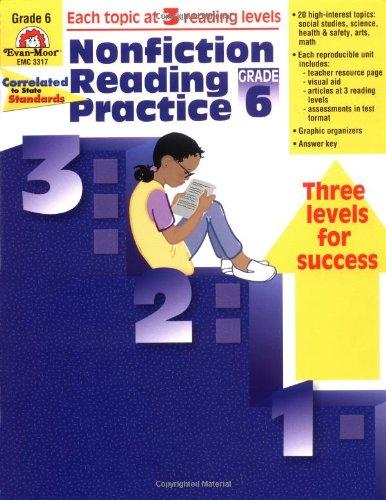 Nonfiction Reading Practice, Grade 6 (1557999457) by Evan Moor