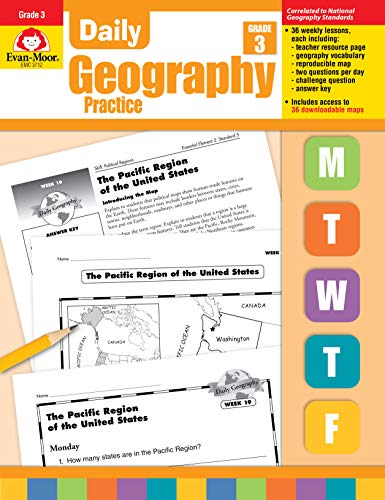 9781557999726: Daily Geography Practice ,Grade 3