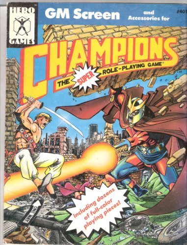 9781558060401: Champions Gm Screen and Accessories (Super Hero Role Playing, Stock No. 401)