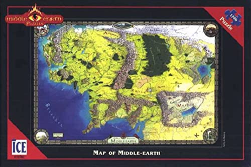 9781558063259: Earth Jigsaw Puzzle: Map of Middle-Earth (Middle-Earth Puzzles)