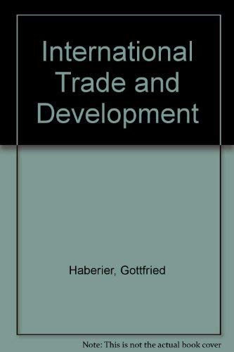 9781558150225: International Trade and Development