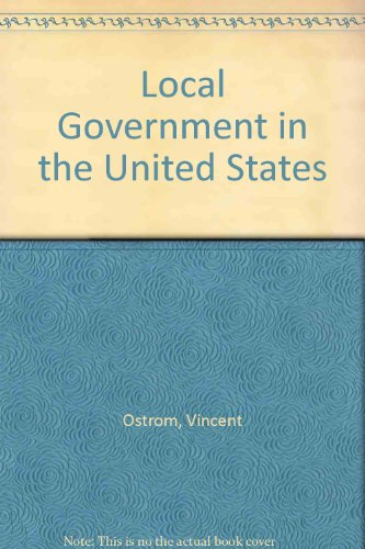 9781558150300: Local Government in the United States