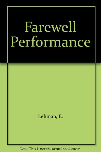 9781558172999: Farewell Performance