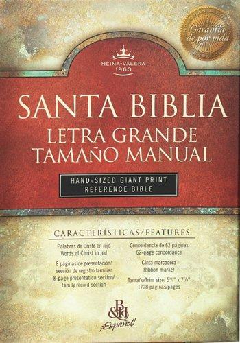 9781558190597: RVR 1960 Bíblia Letra Grande Tamaño Manual con Referencias, negro imitación piel (Spanish Edition)