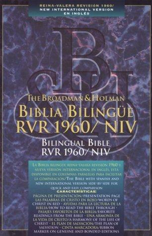Biblia Bilinge/Bilingual Bible Rvr 1960/Niv Black Leather: Bible