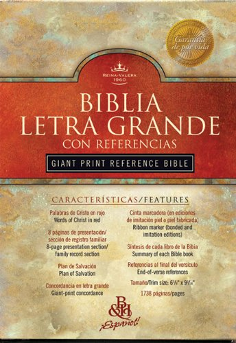 RVR 1960 Giant Print Reference Bible (Black: Editor-B&H Espanol Editorial