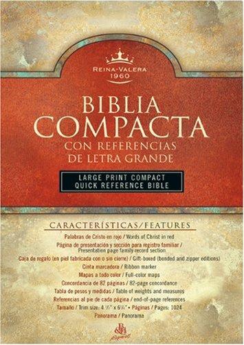 9781558192874: RVR 1960 Biblia Compacta Letra Grande con Referencias, negro imitación piel (Spanish Edition)
