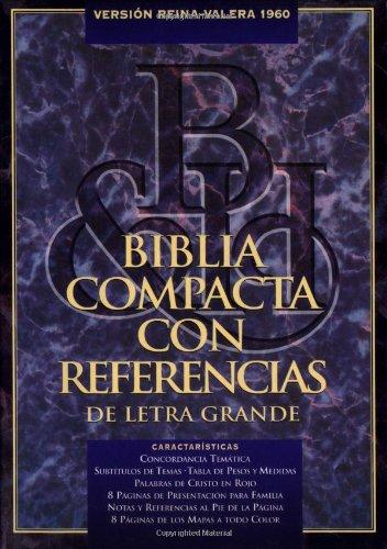 9781558192898: RVR 1960 Biblia Compacta Letra Grande con Referencias, negro piel fabricada (Spanish Edition)