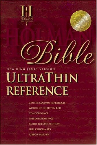 9781558194373: NKJV UltraThin Reference Bible (Black Genuine Leather)