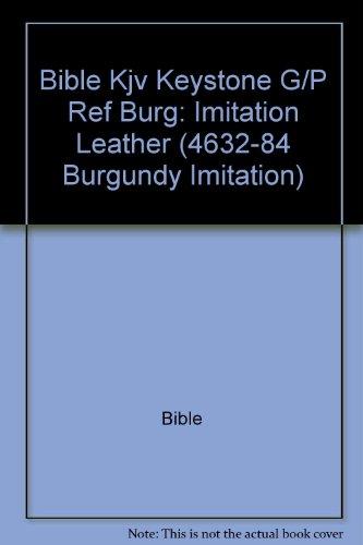 9781558195462: Bib: KJV Keystone Giant Print Reference Bible (4632-84 Burgundy Imitation)